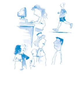 illustration - olika aktiviteter